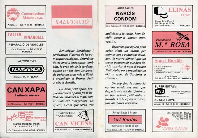 1990_04_04_programa_sardanes_ 1er petit aplec Bordils 2_000193