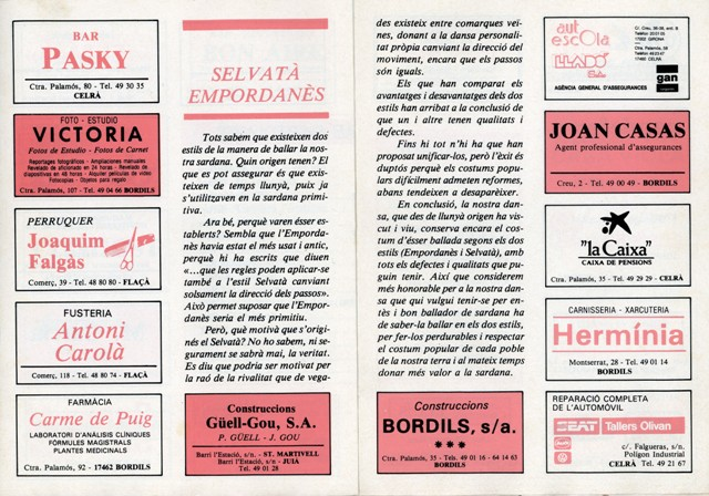 1990_04_04_programa_sardanes_ 1er petit aplec Bordils 5_000196