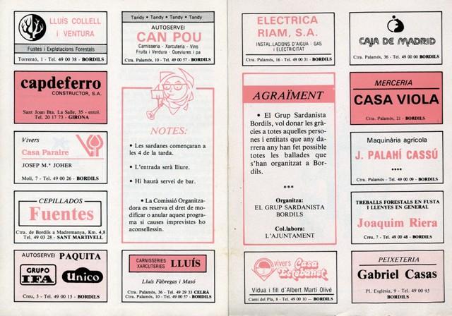 1990_04_04_programa_sardanes_ 1er petit aplec Bordils 6_000197