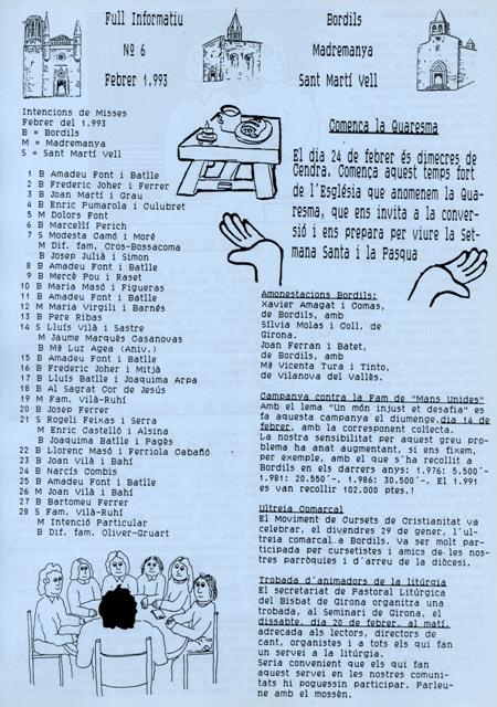 1993_02_00_Consell Parroquial_Full informatiu nº 6 Bordils_000167